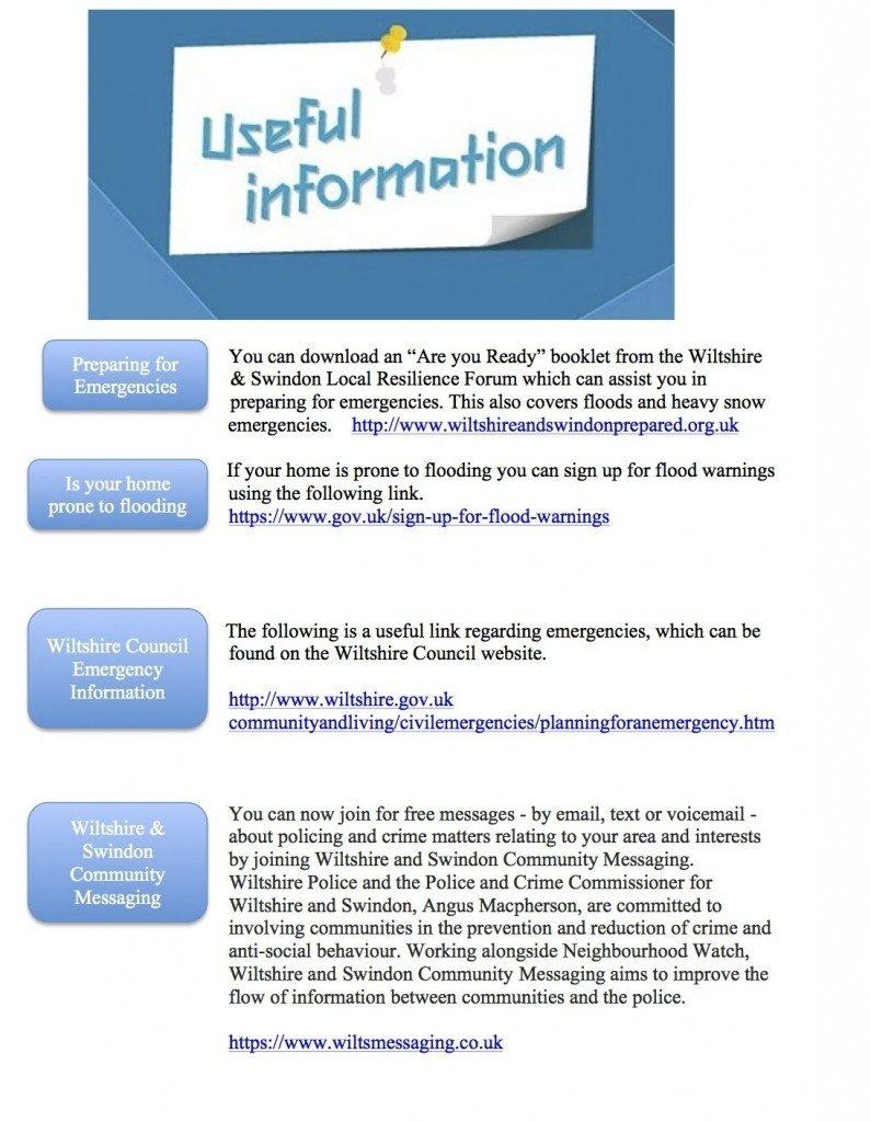 resilience plan useful info
