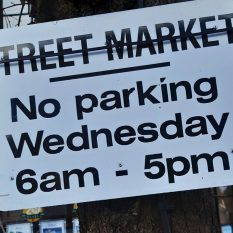 Market Parking Sign