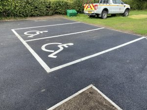 Photo of new disabled bays at Downs View Cemetery