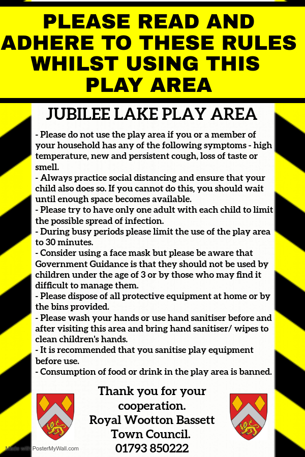 Covid 19 guidance on using Jubilee Lake Play Park