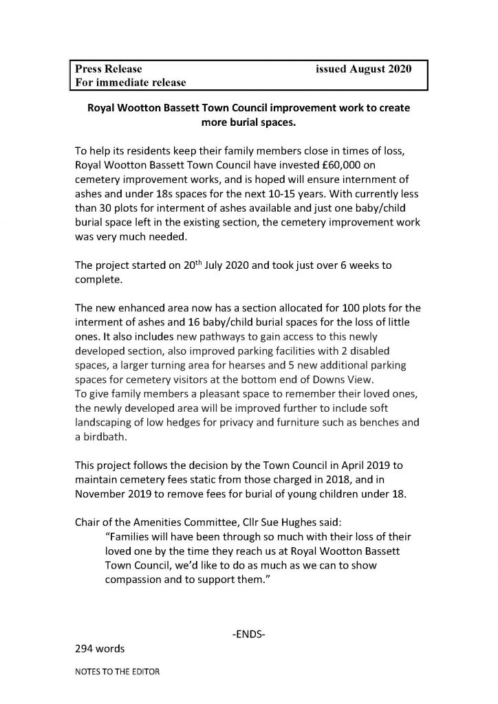 Press Release Page 1