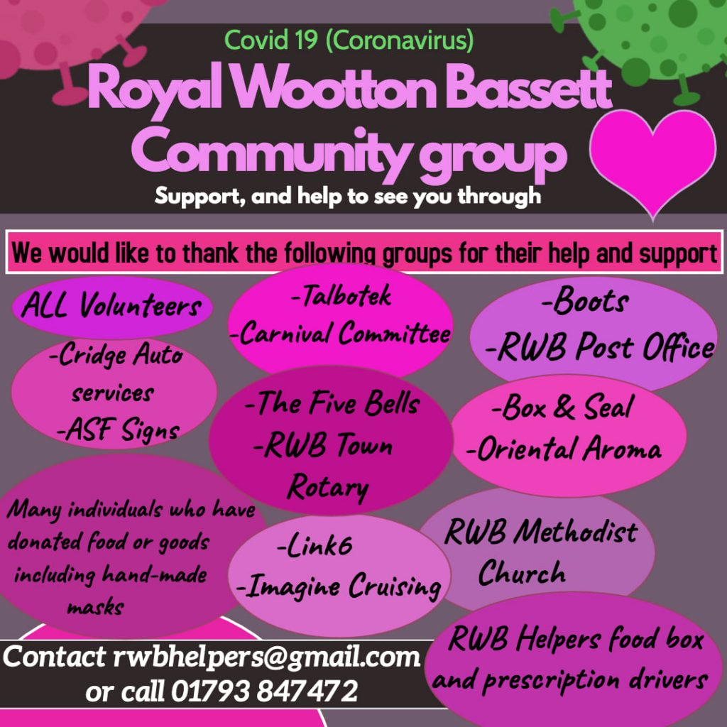 Thank you poster from Royal Wootton Bassett Community Group