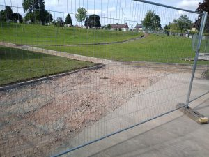 Photo of Cemetery Improvement Works July 2020