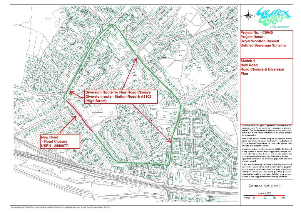 Road Closure map for New Road