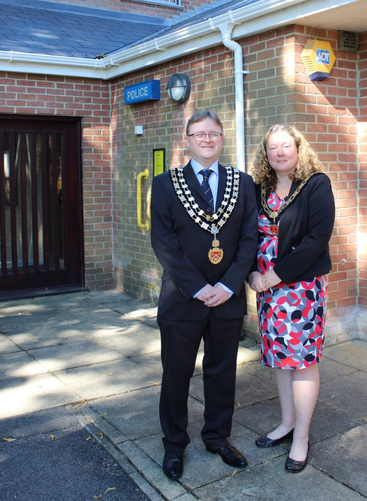 Mayor and Mayoress re-open Royal Wootton Bassett Police Station on 29th July 2020
