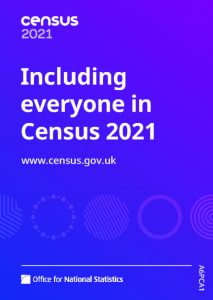 Title page for leaflet on Census 2021