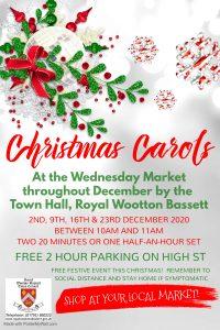 Christmas Carol Singing poster December 2020