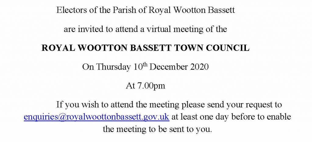 Notice of Full Council meeting for 10th December 2020