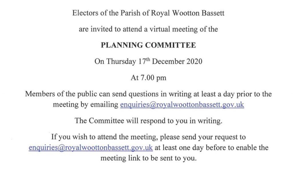 Planning Meeting Thursday 17th December 2020