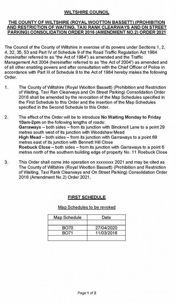 Order Amendment No 2 Page 1