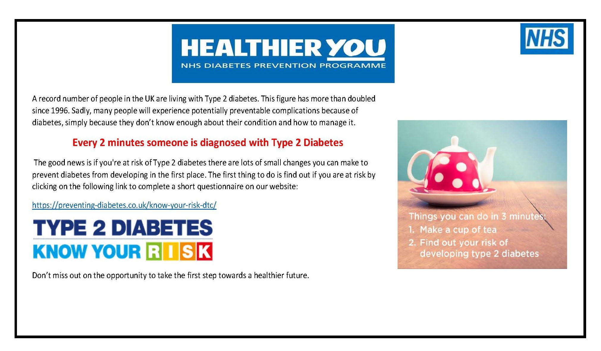 Wiltshire NHS Diabetes Prevention Programme Notice
