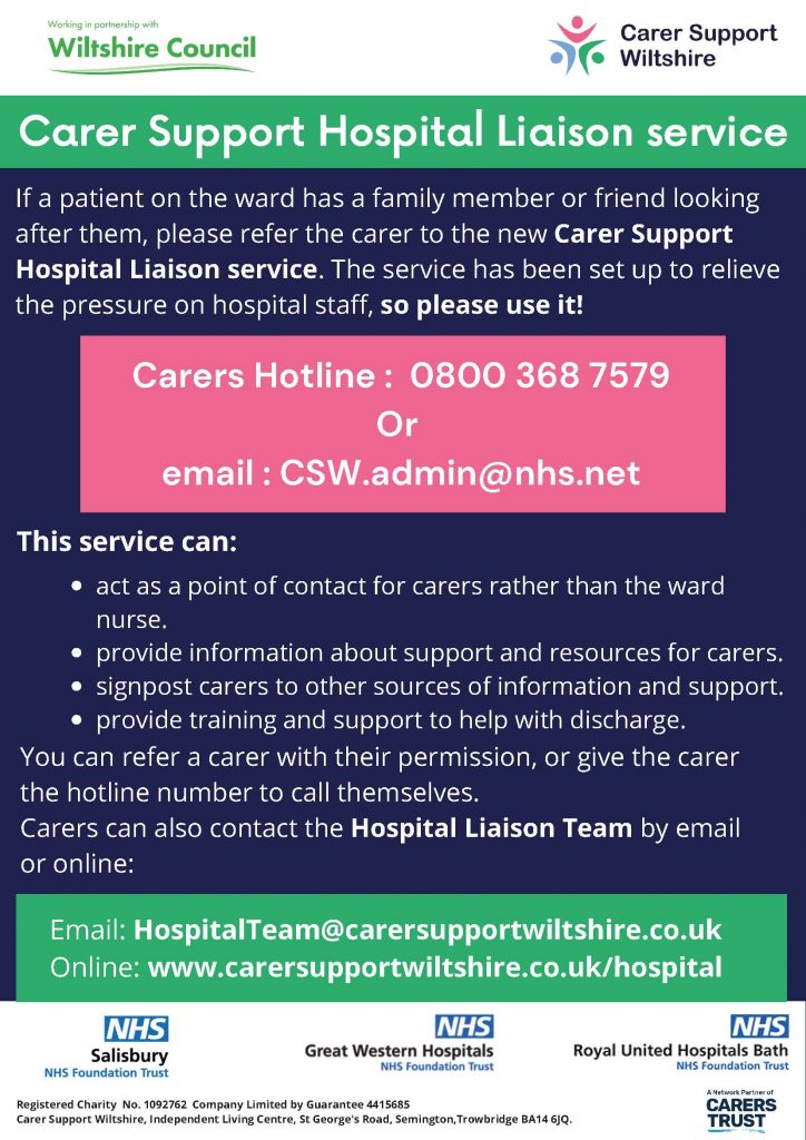 Hospital Support Liaison Poster 2021