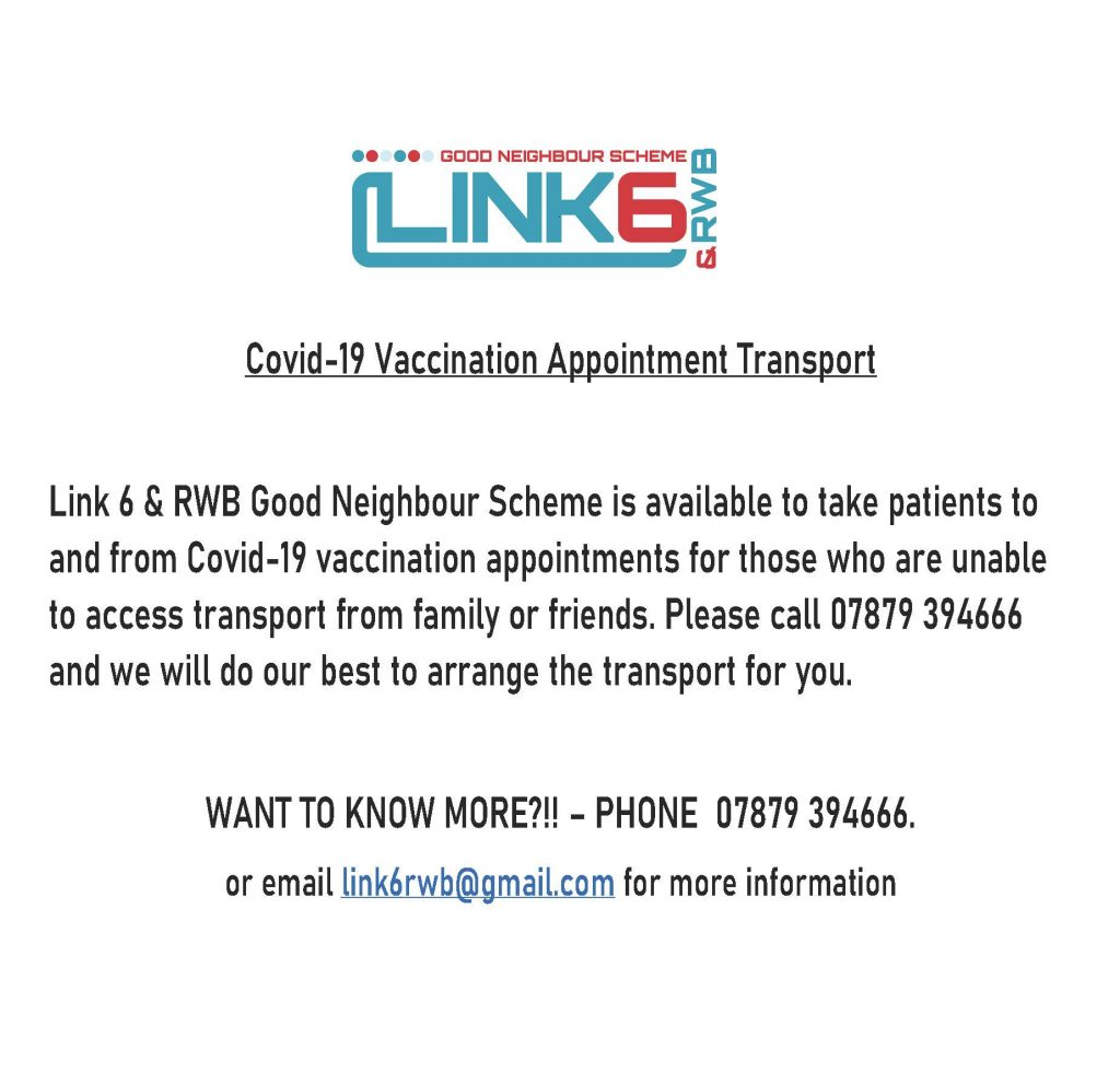 Link 6 Vaccination Appointment Transport