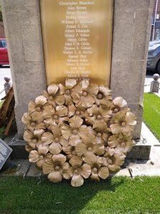 Photo of Poppy Wreath by War Memorial