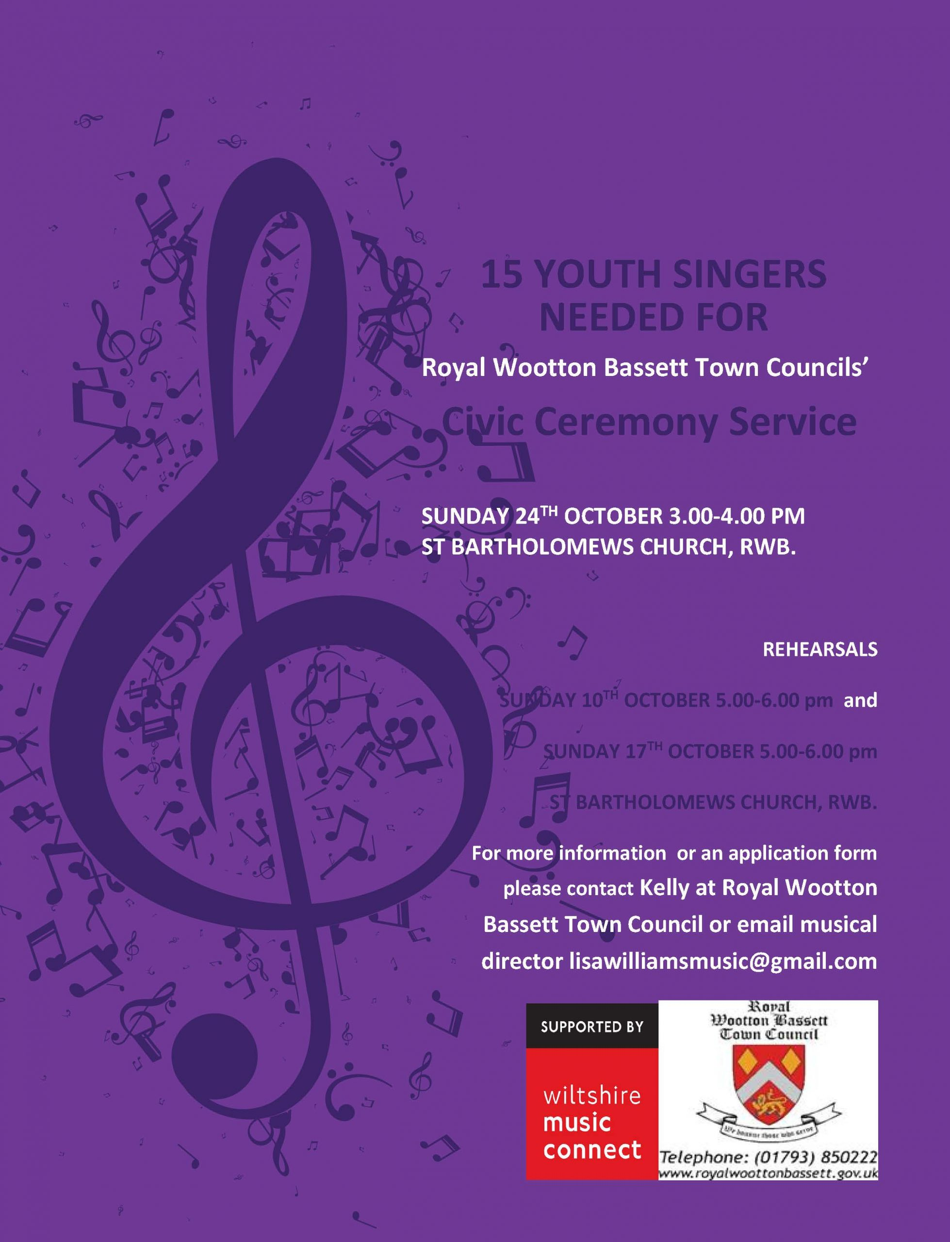 Youth Singers Wanted Flyer