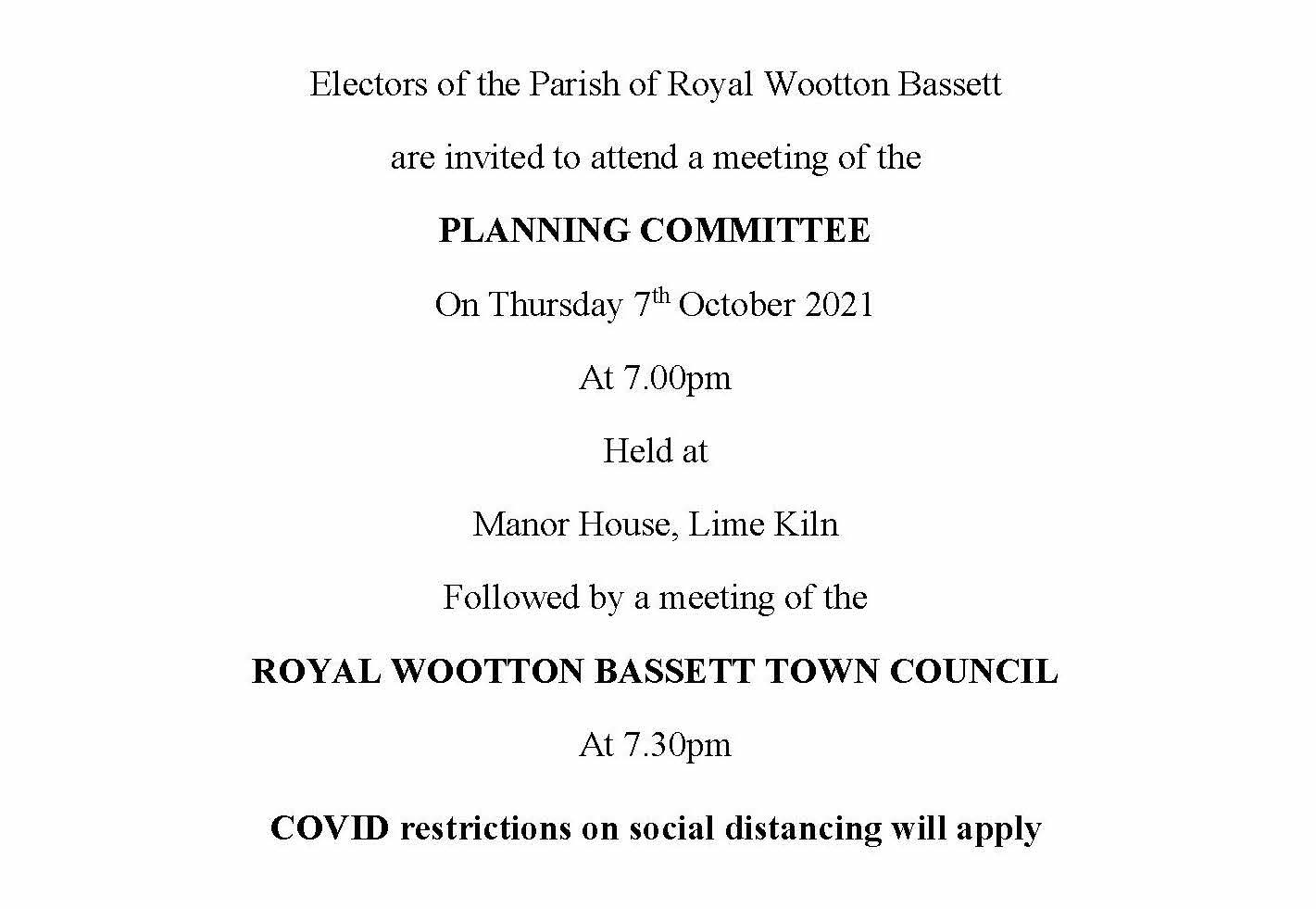 Full Council Meeting Notice 07 10 2021